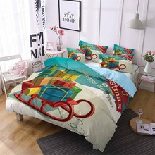 Christmas Gift Print Bedding Set Merry Christmas Bed Linen Set Snowflake Kids Comforter Set Pillowcase Double Queen King Bedding bedding set double tango 684 50