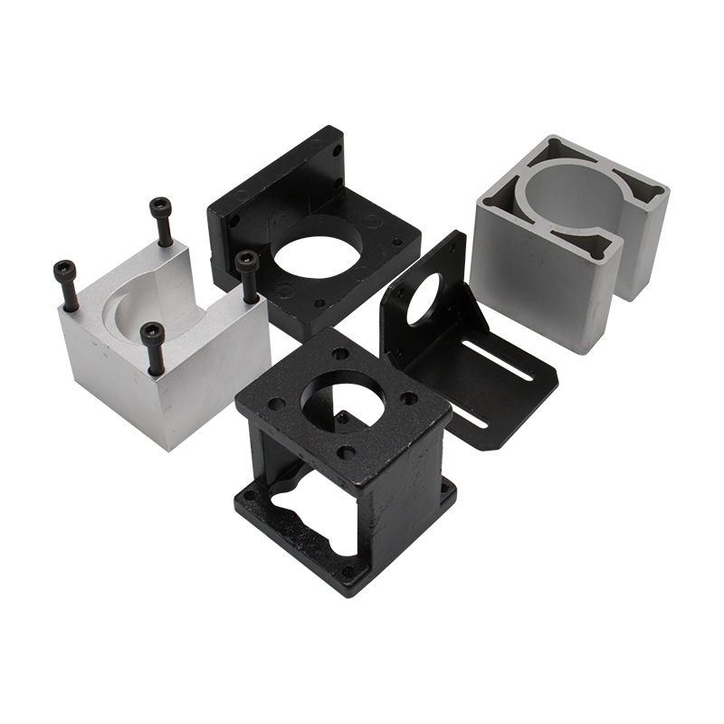 1Pcs Nema23 Stepper Motor Bracket Mount Steel Mounting Support base Clamp 57 stepping motor holder L type Fixed Seat with screws for 57 Stepper Motor Mounts CNC Router Milling Engraving Machine Accessories