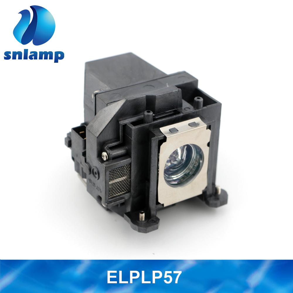 Snlamp Original / Compatible Projector lamp ELPLP57 V13H010L57 bulb for EB 440W EB 450W EB 450Wi EB 455Wi EB 460 EB 460i|Projector Bulbs|Consumer Electronics - title=