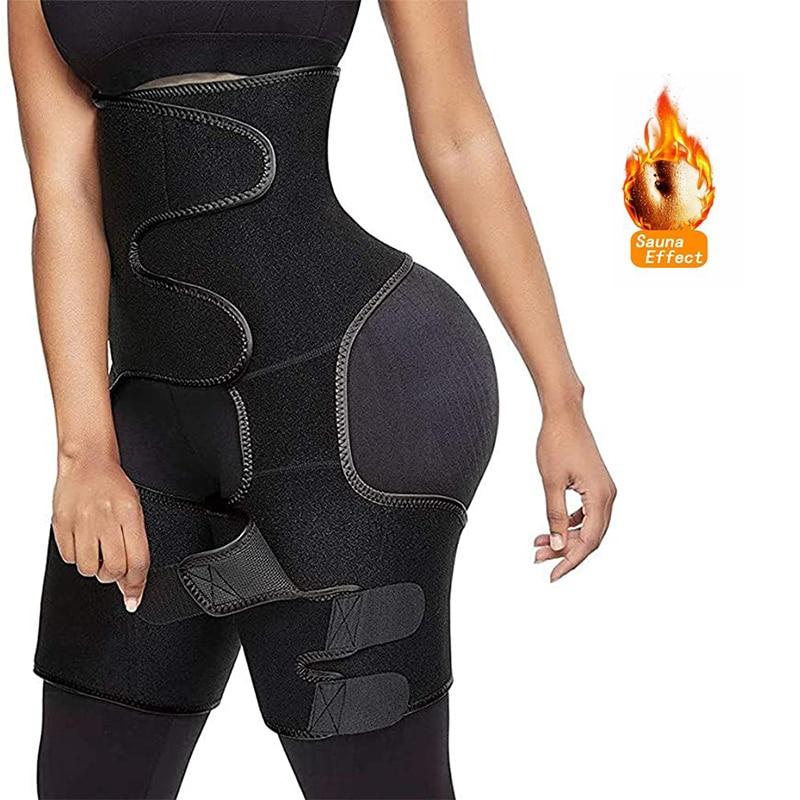 Women Neoprene Waist Trainer Sweat Shapewear Slim Belt Thigh Trimmer Leg Shaper