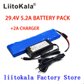 LiitoKala 24V 5.2Ah 7S2P 18650 Батарея Li-Ion Батарея 29 4 5200 мАч Электрический велосипед мопед/Электрический + 2A зарядное устройство