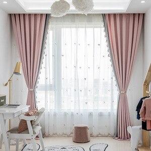 Cortina de ceniza de poni de pana de dibujos animados para sala de estar, ventana, tela, habitación de niños, dormitorio con Bahía, cortinas de ventana