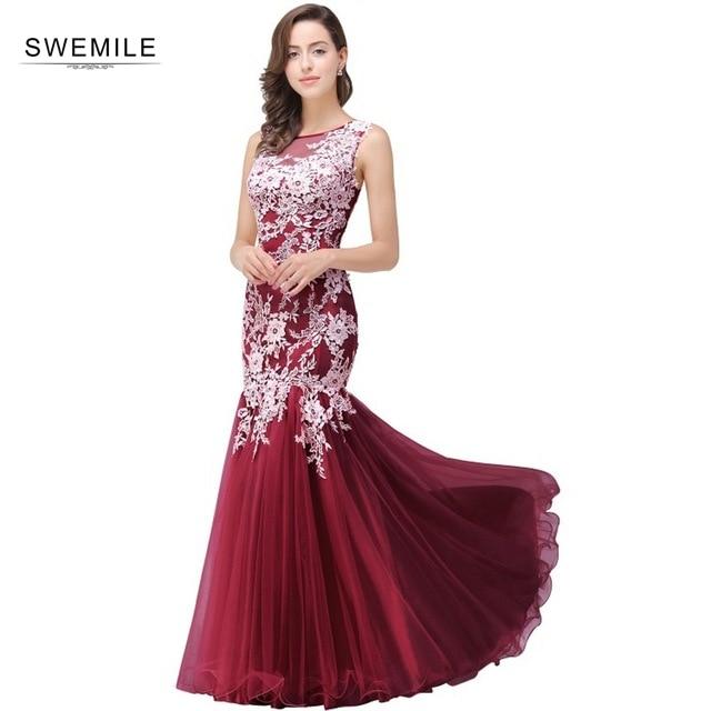 Robe de soirée charmante dentelle sirène Robe de soirée Sexy Illusion Tulle robes de soirée 34 couleurs personnalisé faire Vestido de Festa