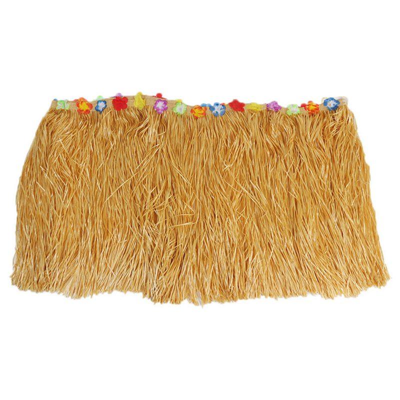 Practical Boutique Table Skirt Hawaiian Luau Flower Grass Garden Wedding Party Beach Decor Khaki