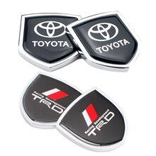 Autocollant latéral de voiture en métal, étiquette autocollante, Logo de voiture, pour Toyota TRD RAV4 Yaris Avensis Izoa Auris Prius Corolla Camry Reiz