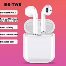 New Upgrade i9s Bluetooth Wireless 5.0 Earphone Mini Earbuds Sports Cordless Bass stereo Headsets Silicone Cover for iPhone(China)