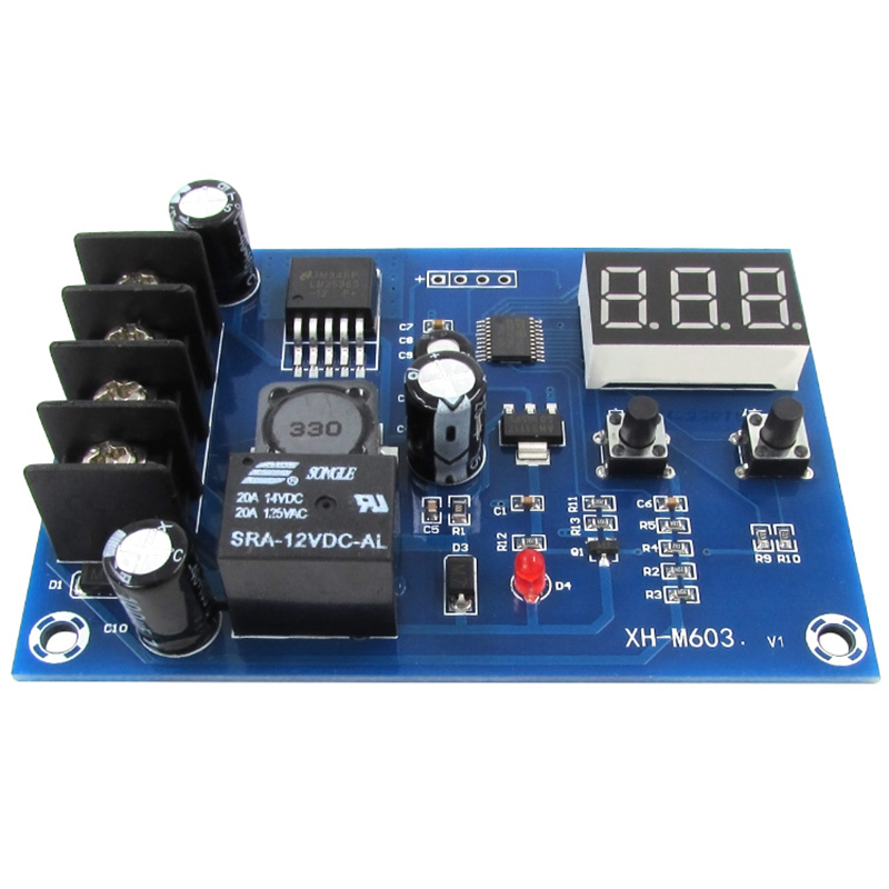5pcs/lot 12-24V Charging Control Module Digital LED Display Storage Lithium Battery Charger Control Switch Protection Board