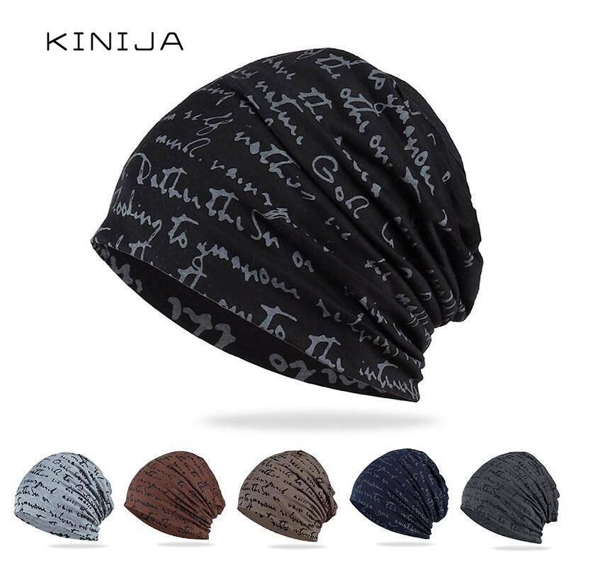 Fashion Hip-hop Hat Beanies Hat Skullies Hat Letter Adult Breathable Turban Spring Autumn Cotton Hat Thin Windproof Hat