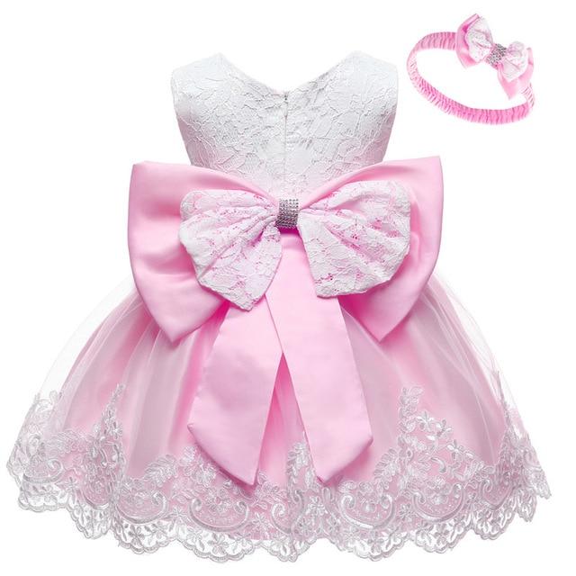 LZH-vestido de princesa de encaje para bebé, traje de primer año de cumpleaños, disfraz de carnaval, vestido de fiesta infantil