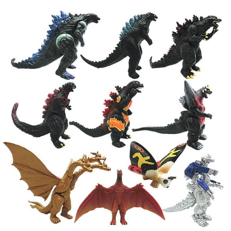 10 шт./компл. Gojira Godzilla 3 8 см ПВХ фигурка Коллекционная модель коллекционная игрушка детский подарок Игровые фигурки и трансформеры    АлиЭкспресс