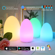 novelty wifi smart table lamp MP APP control multi-color LED romantic night light ambient nachtlamp works with alexa google home