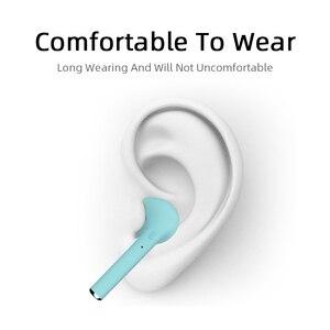 Image 3 - M & J TWS kolorowe bezprzewodowe małe wkładki douszne z Bluetooth słuchawki bezprzewodowe stereo przenośne matowe Macaron sport Bluetooth 5.0 słuchawki