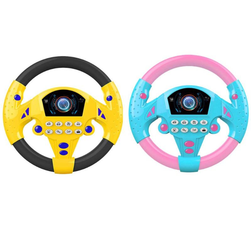 Electric Musical Copilot Stroller Steering Wheel Child Baby Gift Educational Toy Various Sound Effects Suction Cups Fixed
