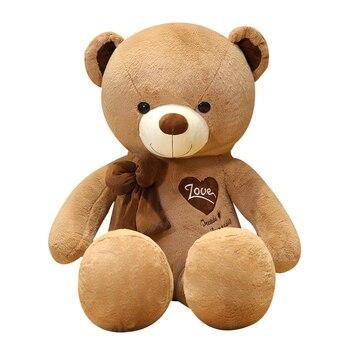 цена на Hot New America Giant Teddy Bear Plush Toys Soft Teddy Bear Skin Popular Birthday & Valentine's Gifts For Girls Kid's Toy
