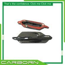 Para-bmw m2 série f87 2016 2017 gloss preto fibra de carbono adicionar no estilo fender lado do carro ventilação de ar Trim-2pcs
