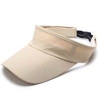 Women Man Quick dry elastic cloth breathable empty duck tongue cap Mesh Running Cap Sun Hat Bone Hats