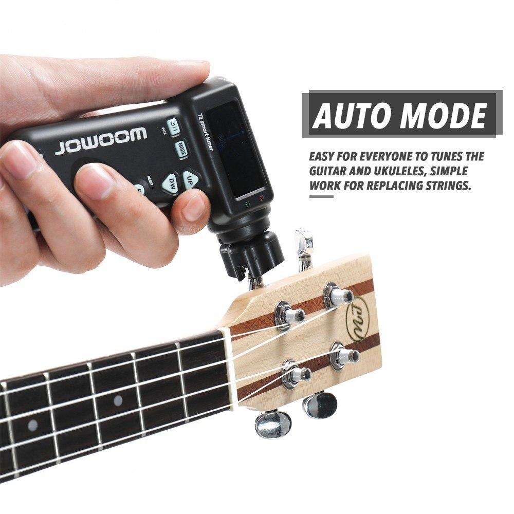 Accordeurs d'intelligence rechargeables outil de réglage automatique de guitare cordes accordeur pince enrouleur de chaîne outils de réglage électriques acoustiques