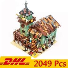 MOC la serie viejo acabado tienda modelo bloques de construcción 2049 piezas ladrillos juguete de los niños Compatible Legoings 21310, 16050