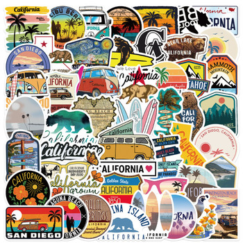 10 30 50Pcs California Graffiti wodoodporna deskorolka walizka podróżna telefon Laptop naklejki bagażowe słodkie dzieci dziewczyna zabawki tanie i dobre opinie CN (pochodzenie) MATERNITY W wieku 0-6m 7-12m 13-24m 25-36m 4-6y 7-12y 12 + y 18 + Sports skateboard stickers Computer notebook stickers
