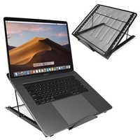 Adjustable Laptop Stand Mesh Ventilated Folding Desktop Light Box Holder Bracket Support 2 Sizes for Computer Notebook Tablet