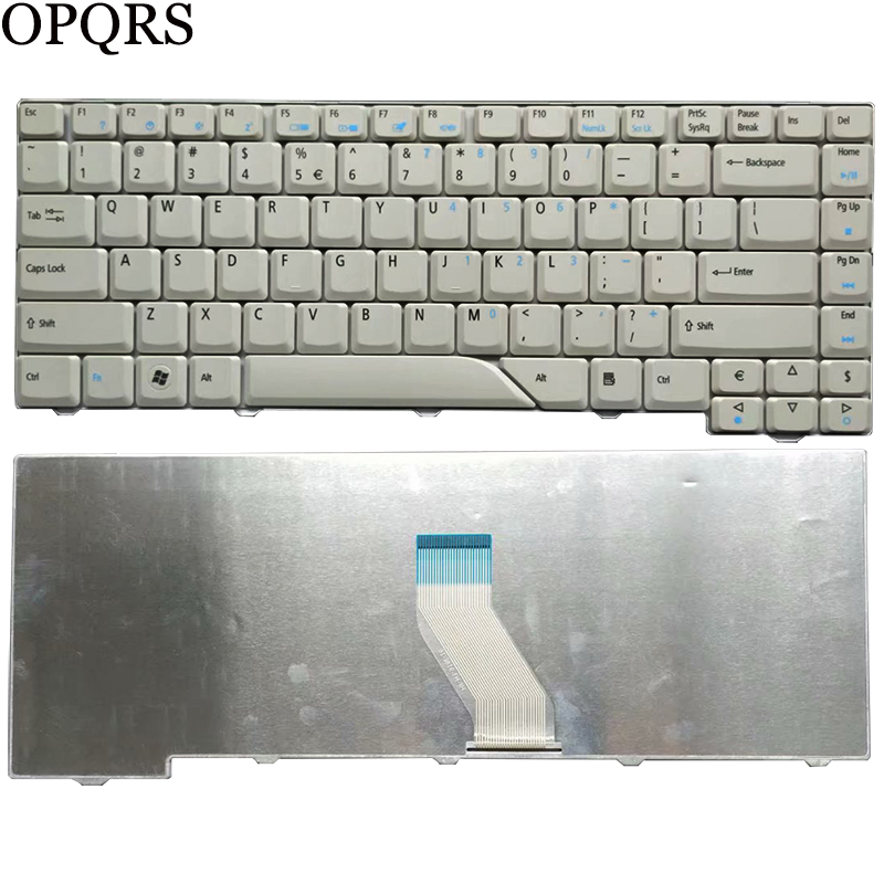 English Keyboard for <font><b>ACER</b></font> <font><b>Aspire</b></font> <font><b>4920</b></font> 4920G 4520G 4310 4320 4315 US White laptop keyboard image