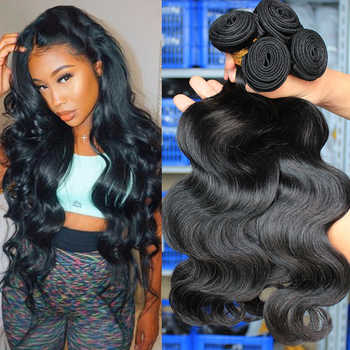 Body Wave Bundles Brazilian Hair Weave Bundles With Closure Human Virgin Hair Bundle Extension 1/3/4pcs Dolago Hair Products - DISCOUNT ITEM  41% OFF All Category