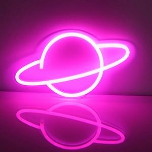 Image 5 - Neon ışık Neon tabela paneli gece işık USB Powered INS şekli romantik düğün tatil parti dekorasyon peri lamba kanadı muz