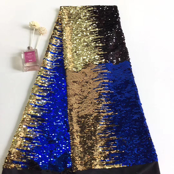 Sequins Nigerian Lace Fabric Dubai Embroidered French Tulle Lace Latest Velvet Lace Fabric African Lace Fabric 2019 T31061