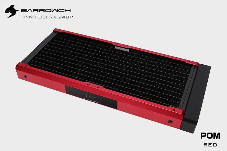 Barrowch FBCFRX-240 Хамелеон рыбы модульный 240 мм радиатор с OLED дисплей акрил/POM Впускной модуль подходит для 120 мм вентилятора - Цвет лезвия: POM-Red