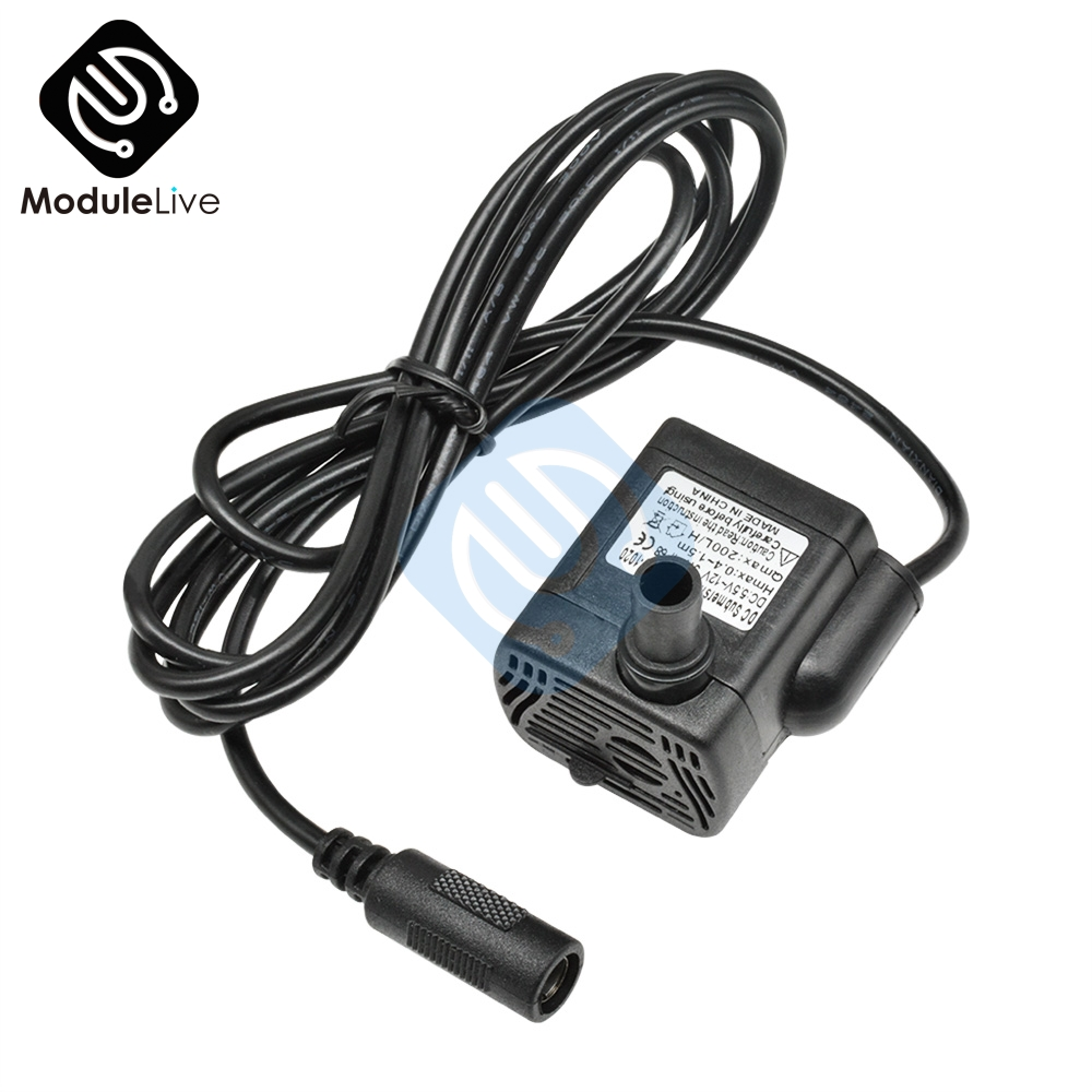 3W 5.5V-12V DC Submersible Water Pump IP68 Waterproof Solar Motor 200L/H 0.4-1.5M For Aquarium Fountain Fish Tank Watering Tools