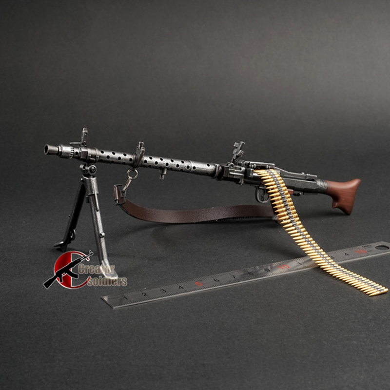 1/6 1:6 MG34 Automatic Rifle Assembling Gun Model Assembly Plastic Weapon For 1/6 Soldier Military Building Blocks Toy For