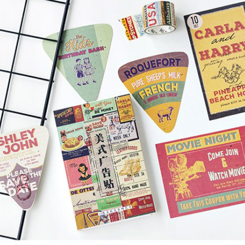 5Packs/lot Vintage American Advertisingt Style Postcard Creative Writing Greeting Gift Postcards Wholesale