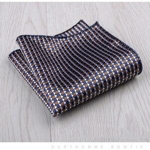 Image 4 - Mouchoir coloré vert, bleu, costume carré Floral, poches, pour affaires, fête, mariage et loisirs, accessoires à main, nouvelle mode