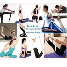 Nuove donne multicolori Yoga cinturino elasticizzato d-ring cintura Fitness esercizio palestra corda figura vita gamba resistenza fasce Fitness cotone