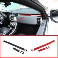 New!! 2 Style Real Carbon Fiber Passenger Decoration Trim For Range Rover Sport RR Sport 2014 2019 Left Hand Drive Accessories