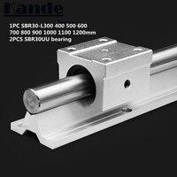 선형 레일 30mm SBR30 - 300 400 500 600 700 800 900 1000 1100 1200mm 1 pc 리니어 가이드 SBR30 + 2 pcs SBR30UU 블록