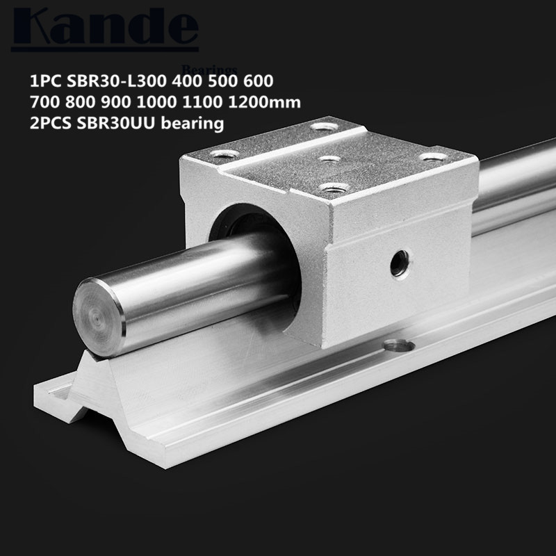 linear rail 30mm SBR30   300 400 500 600 700 800 900 1000 1100 1200mm  1 pc  linear guide SBR30 + 2 pcs SBR30UU blocks for CNC|Linear Guides| |  - title=