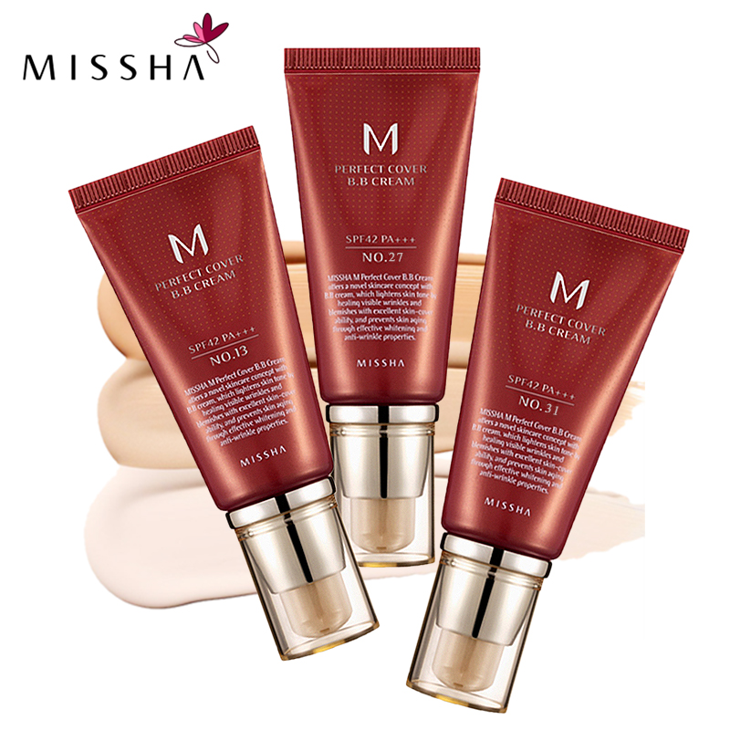 MISSHA M Perfect Cover BB Cream SPF 42 PA+++(50ml) #13 Bright Beige #27 #31 Golden Beige Korean Cosmetics