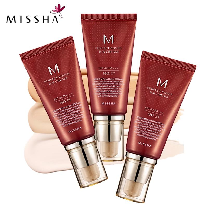 MISSHA M Perfekte Abdeckung BB Creme SPF 42 PA +++ (50 ml) #13 helle Beige #27 #31 Goldene Beige koreanische Kosmetik