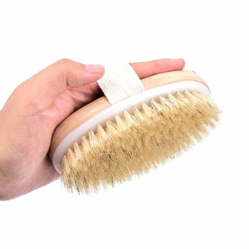 1 Pc Soft natural bristle the SPA the Brush Dry Skin Body Wooden Bath Shower Bristle Brush SPA Body Brush Skin Body Massager 1