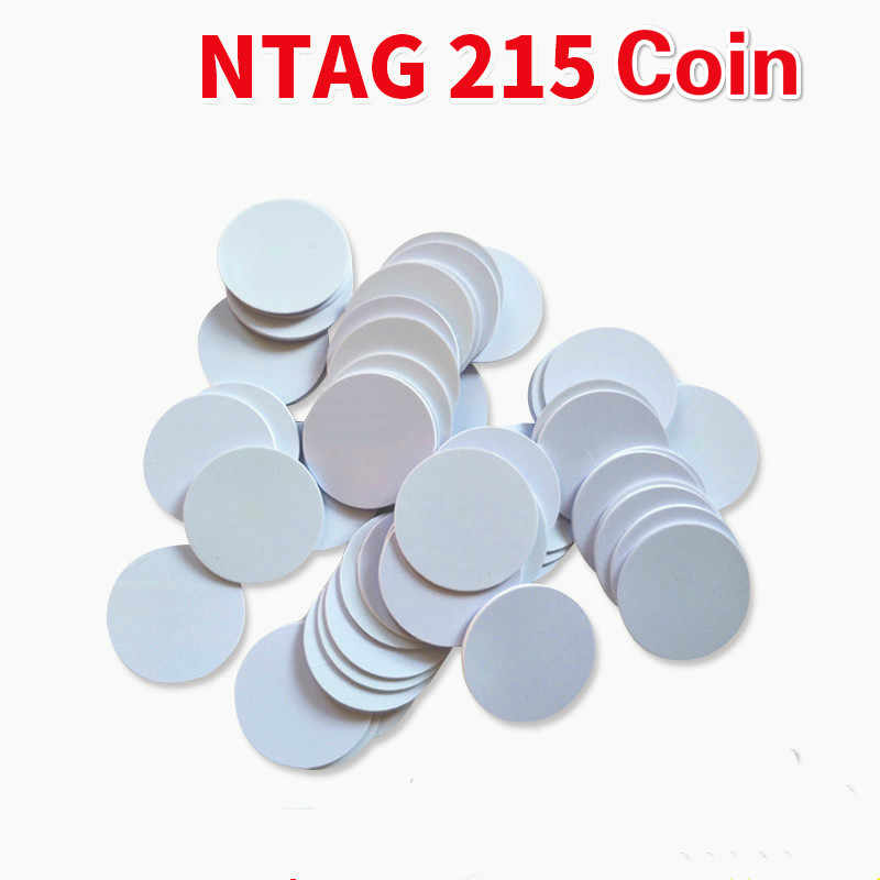 10/5/1Pcs Nfc Ntag 215 Coin Universal Ultralight Rfid Toegangscontrole Responsieve Waterdicht Stofdicht game Telefoon Label Tags 25Mm
