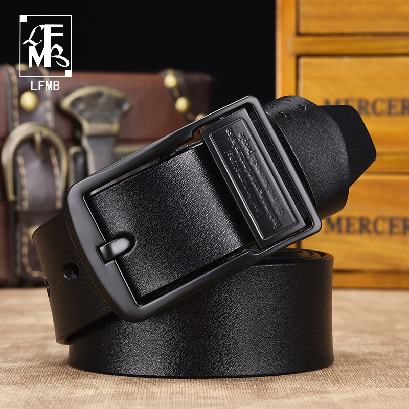 [LFMB]Dropship High Quality Genuine Leather Luxury Strap Male Belts For Men Jeans Casual Belt Pin Buckle Masculine Cummerbund