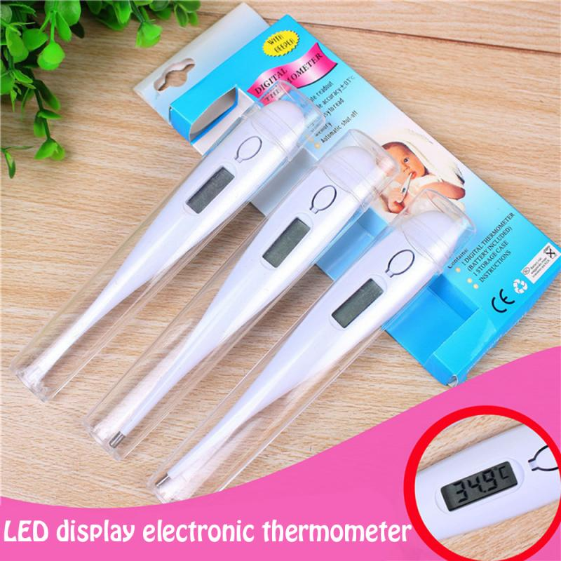 1pcs Digital LCD Electronic Thermometer Body Temperature Child Adult Household Temperature Gauge With Prompt Function