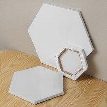 1 pièces hexagone blanc coton bois cadre toile tableau aquarelle peinture bricolage artisanat pour artiste professionnel toile peinture à l'huile