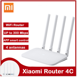 Xiaomi Mi WIFI Router 4C WiFi modem 2.4GHz 300Mbps 4 Antennas APP Control Wireless Routers Repeater Extender for Home Office