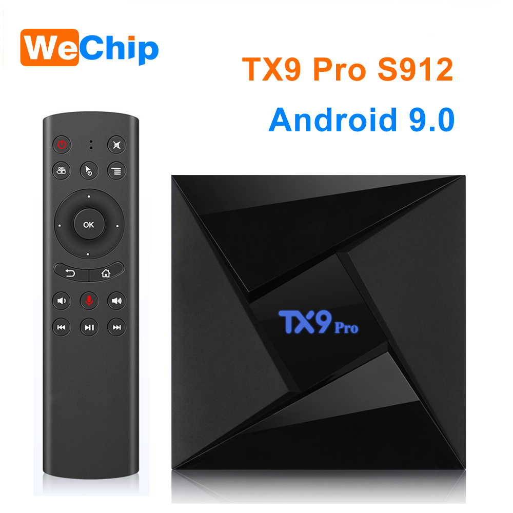 TX9 Pro 3G 32G Amlogic S912 Octa-core Box Android 9.0 TV Box Dual WIFI Wireless 1000M LAN 4K 1080P HD Set-top Box Media Player