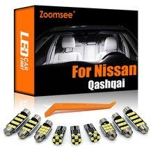 Zoomsee interior led para nissan qashqai j10 j11 2007-2020 canbus veículo lâmpada interior dome mapa leitura tronco luz kit de lâmpada auto