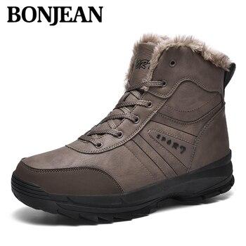 2019 New Fashion Winter Men's Boots Comfortable Plus Velvet Warm Inside The Solid Non-slip Soles  Multi-purposehard Men's Boots