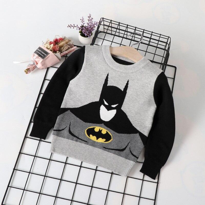 Childrenswear New Style Children Double Layer Batman Children Base Shirt Baby Children Boys' Sweater Pullover Fashion