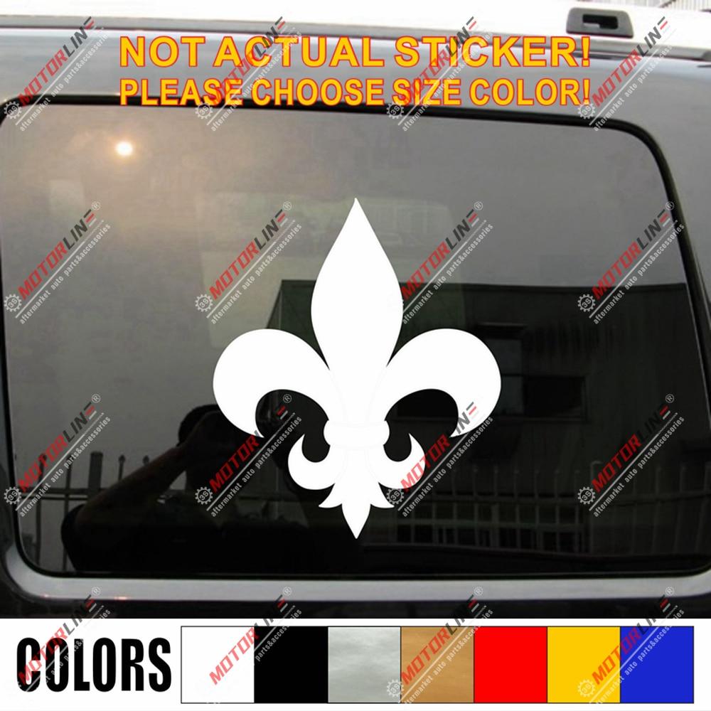 Fleur De Lis Decal Sticker Car Vinyl French Frace Pick Size Color No Bkgrd A